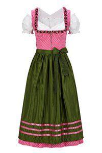 Original Steindl München-Salzburg Dirndl de 3 piéces, longueur 3/4, couleur rose