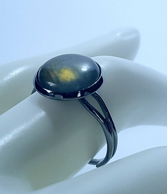 Labradorite Ring Adjustable  Free and fast shipping to the US and Canada!