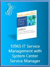 10965 IT Service Management with System Center Service Manager  Microsoft Training Course provides students with the key knowledge required to deploy and configure System Center 2012 SP1 Service Manager