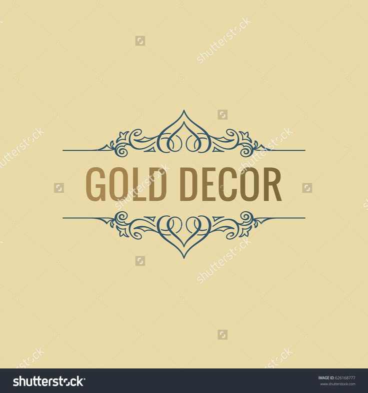 Calligraphic Luxury line logo. Flourishes gold frame. Royal vintage design. Beauty symbol decor for menu card, invitation label, Restaurant, Cafe, Hotel. Vector line illustration