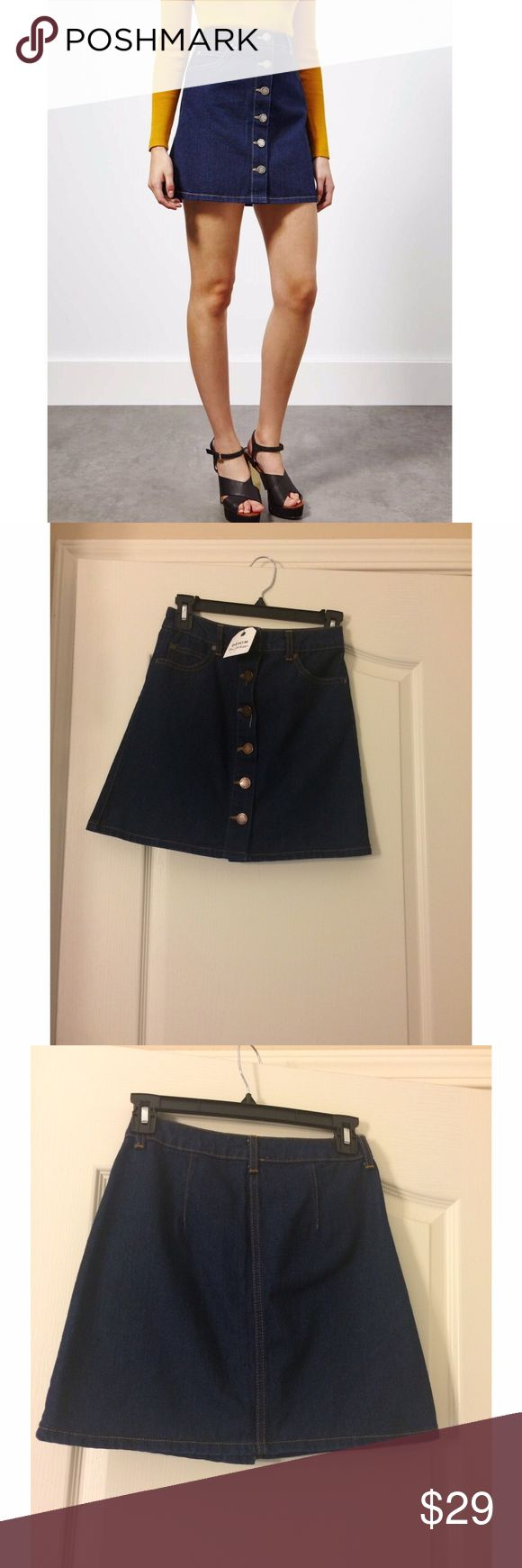 NWT MISS SELFRIDGE denim skirt jean skirt button down. Size 2 NEW WITH TAGS 🎈SALE Skirts