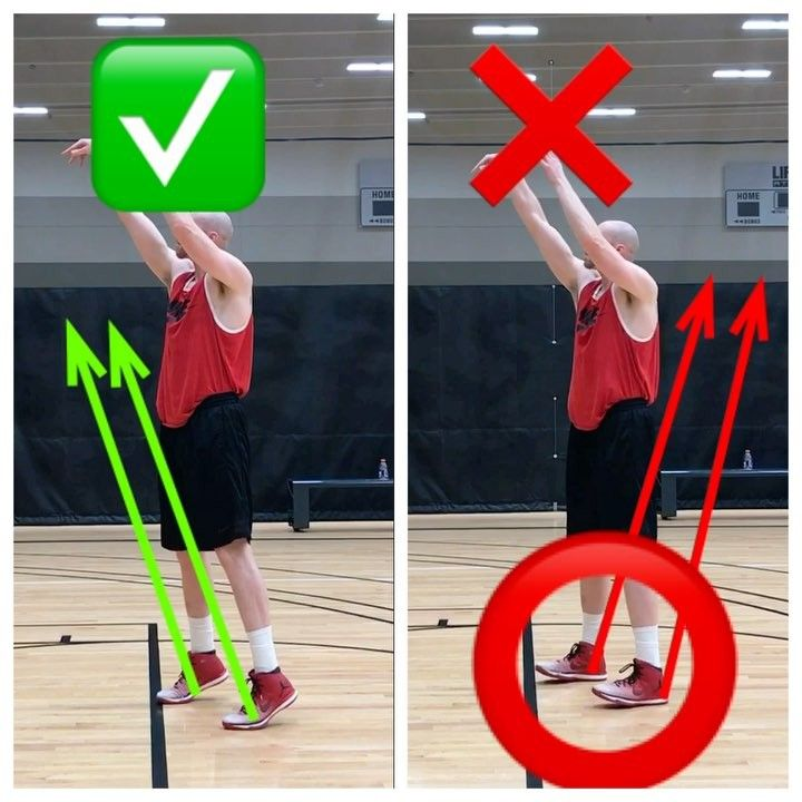 Why bending your legs doesn't necessarily mean you're using them The more games (college especially) I watch the more I'm seeing players with a noticeable knee bend but no real use of the legs.  Make sure you're using using your legs to PROPEL your shot up and forward.  The shot on the right is a common mistake I see in which the players heels at the line start dropping before the shot is released.  This usually result in a flat and short shot.  Coaches- pay attention to the details.  Little…