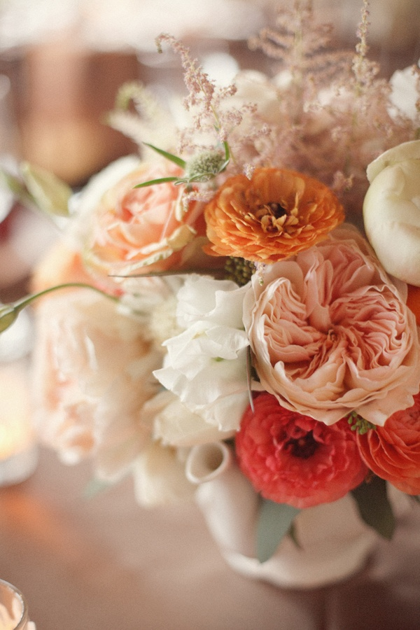 peach color arrangement