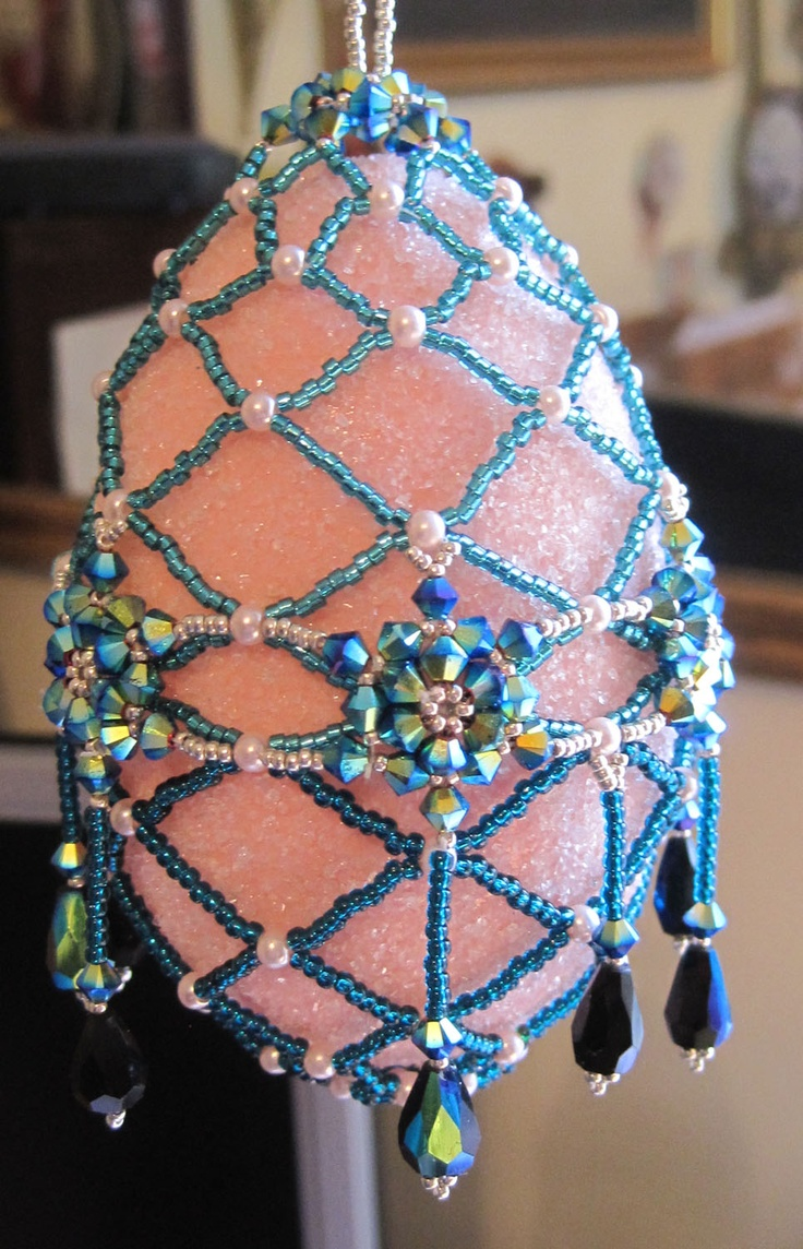 Happy Easter From Sharon A Kyser Easter Projectseaster Craftshandmade Christmaschristmas  Ornamentschristmas Treebeaded Ornamentsegg