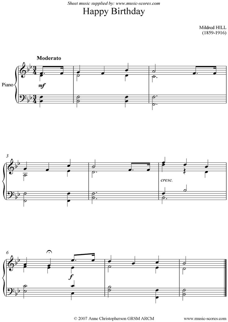 Piano happy birthday piano sheet music : The 25+ best Happy birthday music download ideas on Pinterest ...