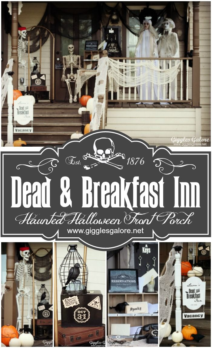 Dead and Breakfast Inn Halloween Front Porch