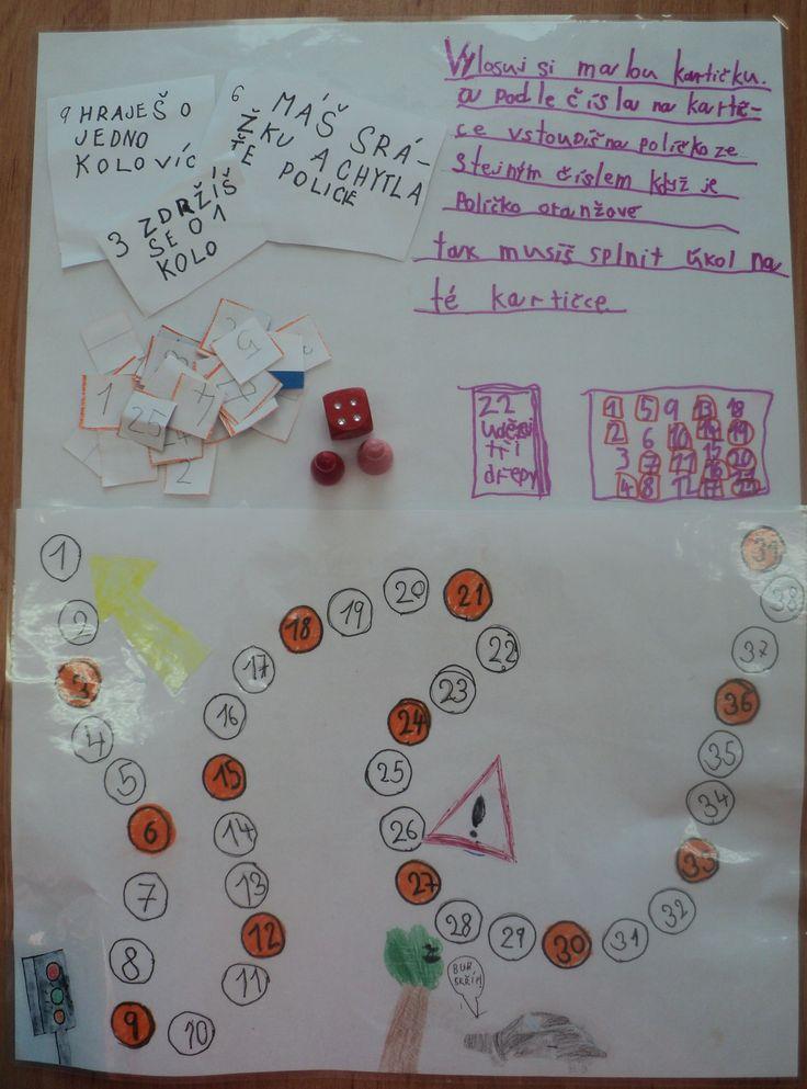 Stolní hra s dopravní tématikou (práce dívek - 1. třída)