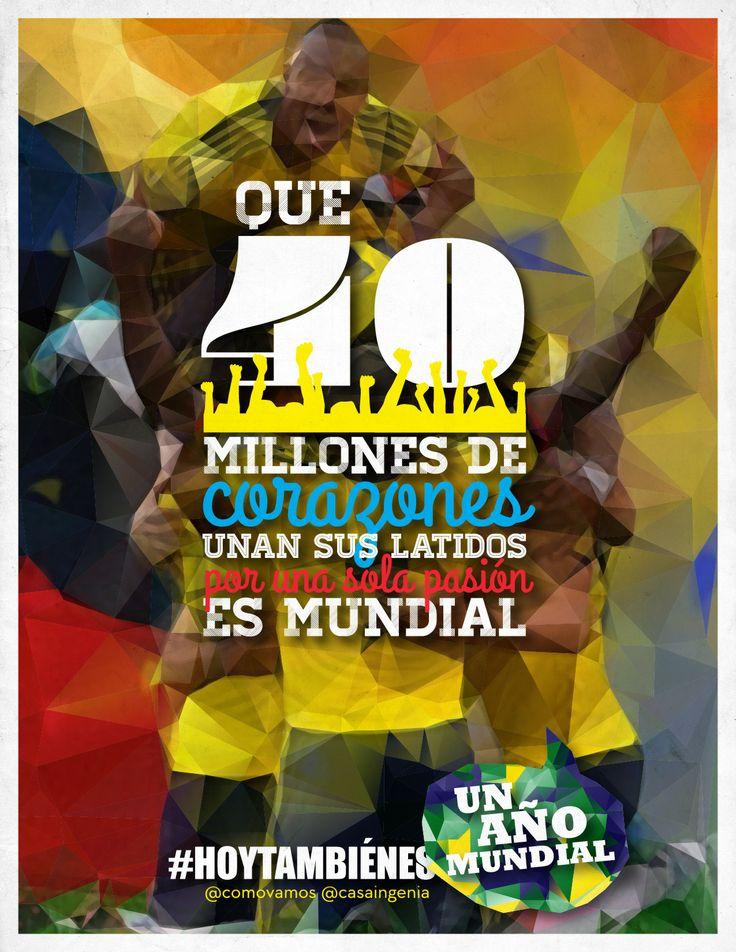 #HoyTambiénEsViernes y mañana es el debut de nuestra gloriosa Seleccion Colombia en el #Mundial! Para qué más?? http://bit.ly/1j62sem
