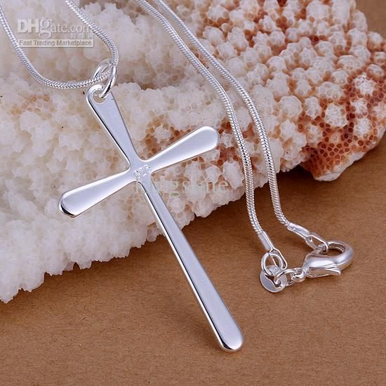 2013 NEW Cheap Silver Jewelry 925 Sterling Silver Fashion Charm Cross Pendant Snake Chain Necklace from Kingslate,$15.35 | DHgate.com