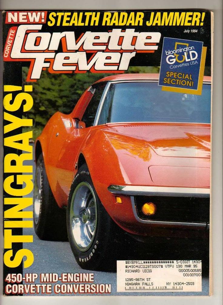 Corvette Fever Magazine July 1994 Vette Chevy Sports Car Vintage Old Back Issue