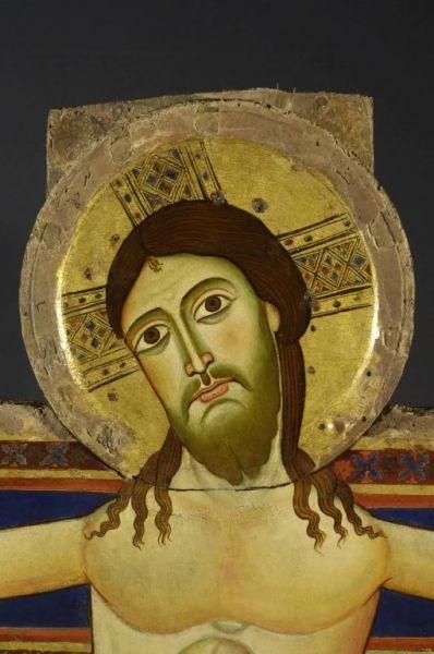 Maestro di Rosano - Croce di Rosano (dettaglio) - 1115-1120 - Monastero di S.Maria di Rosano ( Rignano- Firenze)