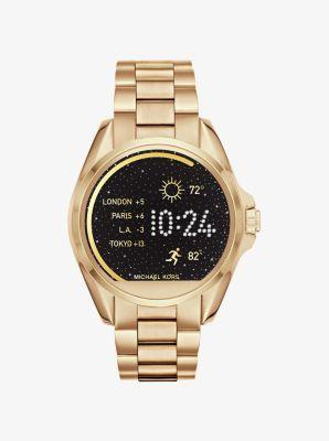 Wir stellen vor: Michael Kors Access– eine Smartwatch, die Trend und Technologie perfekt miteinander vereint. Das innovative Design mit Android Wear™-Technologie verfügt über eine Vielzahl an Display-Designs und Funktionen wie Fitnesstracking sowie Anzeige von SMS- und E-Mail-Benachrichtigungen. Betrachten Sie diese Uhr als die eleganteste Form der Technologisierung.