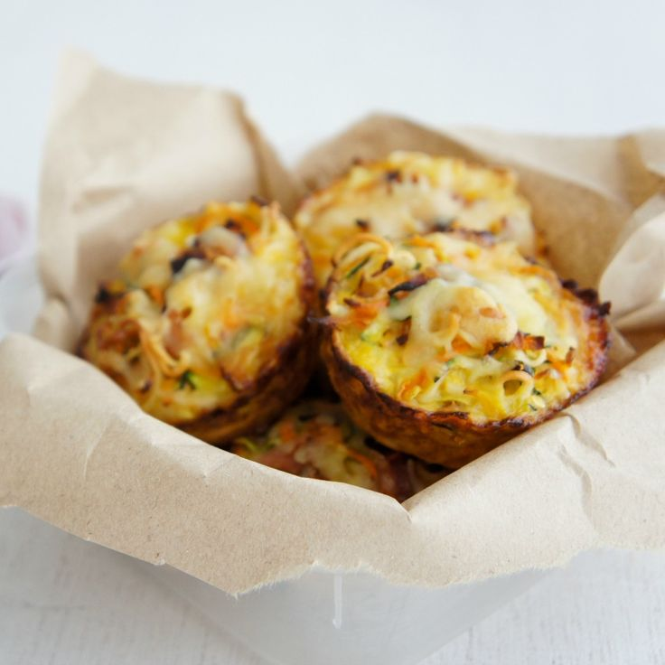 These Vegetable and Ham Noodle Cups by tarotlady make the perfect snack.