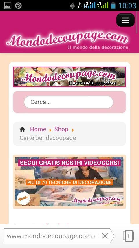 Mondodecoupage.com versione mobile  Mobile view