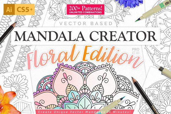Mandala Creator - Floral Edition by everdrifter on @creativemarket