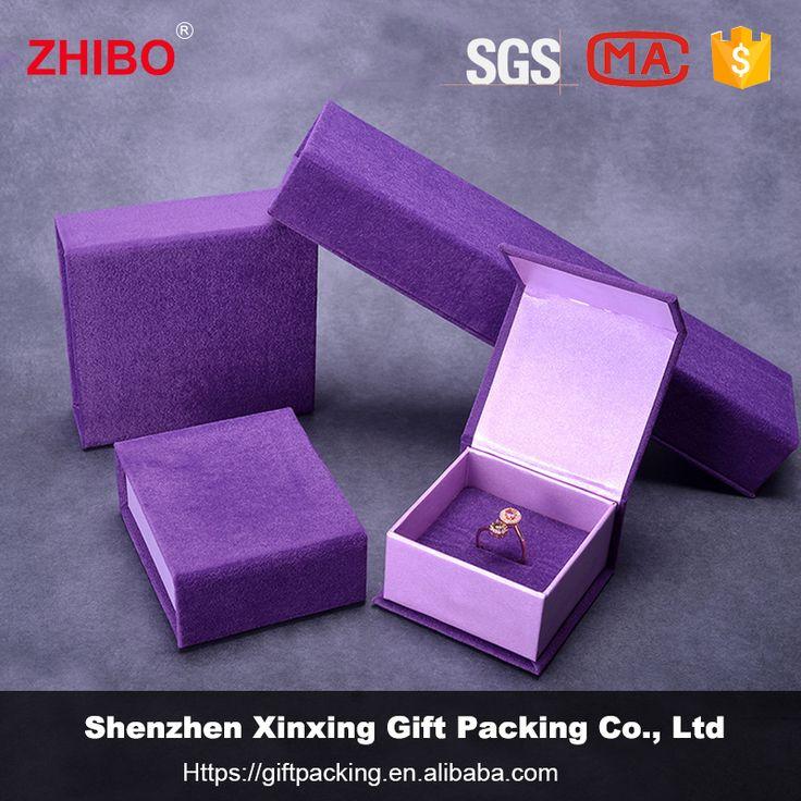purple custom jewelry gift boxes