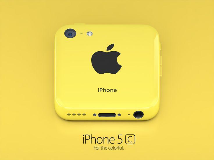 iPhone 5c yellow icon