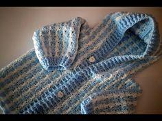 Abrigo para niñ@ a crochet 1ª parte  muy fácil y rapido - YouTube