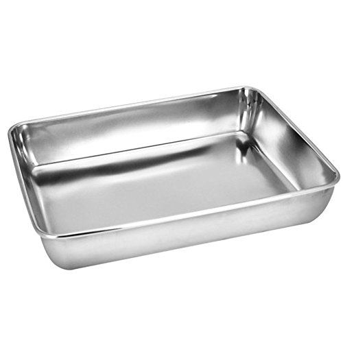 Sheet Pan,Cookie Sheet,Heavy Duty Stainless Steel Baking Pans,Toaster Oven Pan,Jelly Roll Pan,Barbeque Grill Pan,Deep Edge,Superior Mirror Finish, Dishwasher Safe By Meleg Otthon  HIGH QUALITY - Our heavy duty stainless steel baking sheet pans are made of high food grade stainless steel material which will never rust for a lifetime of durability.No coating more healthy.Baked goods rise and bake evenly due to stainless steel superior heat conductivity .  EASY TO CLEAN AND KEEP CLEAN - J...