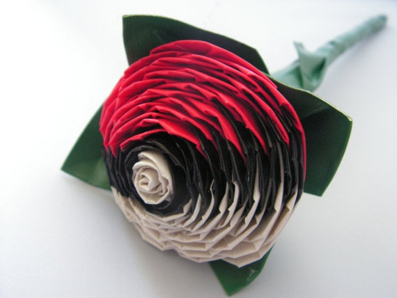 Duct Tape Pokeball Rose