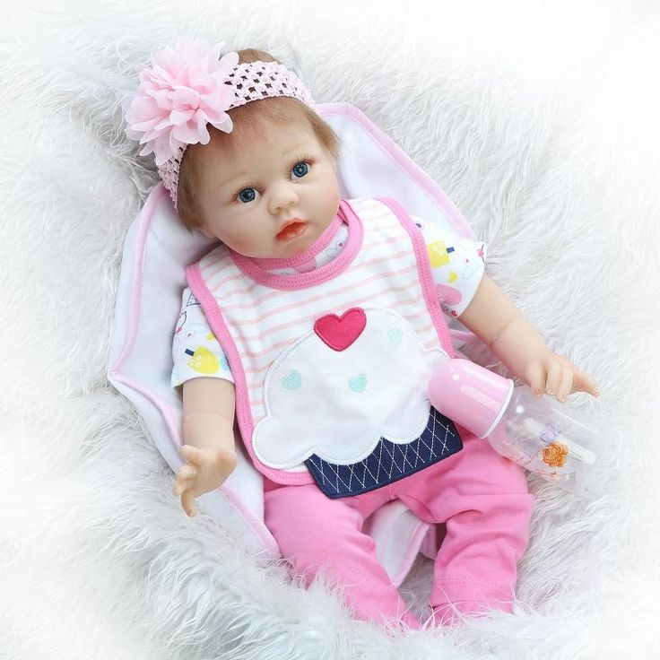 119.80$  Buy here - http://ali6k0.worldwells.pw/go.php?t=32741328830 - Soft 22 Inches Silicone Baby Dolls For Kids Best Birthday Gifts Cute Newborn Babies For Adoption Cheap Reborn Dolls For Sale