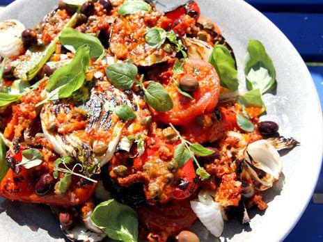 Grillade grönsaker med pikant vinägrette   Recept från Köket.se
