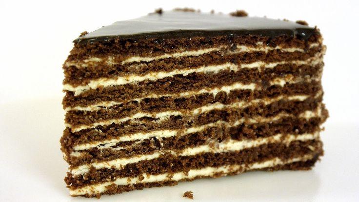 Торт «Спартак» с заварным сметанным кремом, который в сочетании с нежными медово-шоколадными...