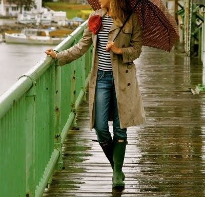 """Buen """"rain outfit"""" para hoy!"""