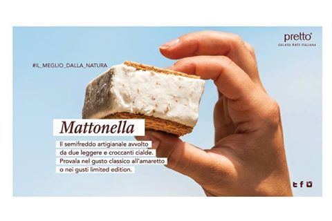 Il piacere ha questa forma! #Lamattonella Scegli il gustdi #Prettogelateriaitaliana