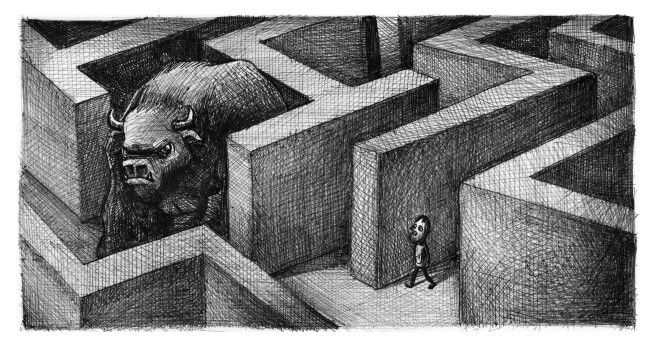 'The Labyrinth'. Illustration by Chris Harrendence