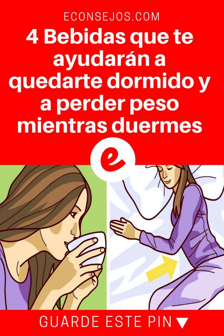 Perder peso durmiendo | 4 Bebidas que te ayudarán a quedarte dormido y a perder peso mientras duermes | Dormirás como un bebé si las tomas antes de acostarte.