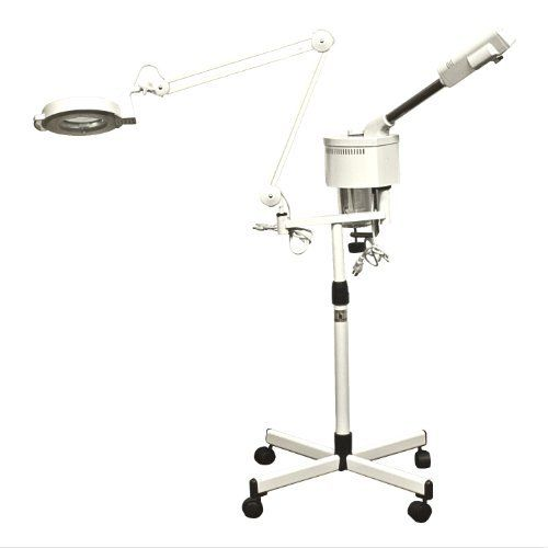 Salon 2 In 1 Ozone Facial Steamer With Magnify Lamp Spa