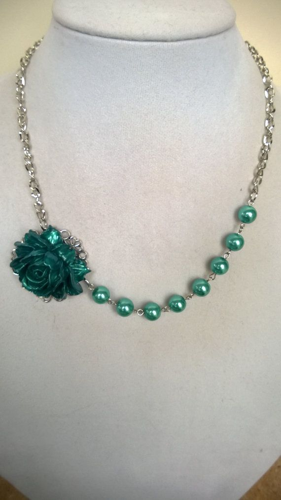 Wedding jewelry Bridemaid jewelry teal green by LesBijouxLibellule