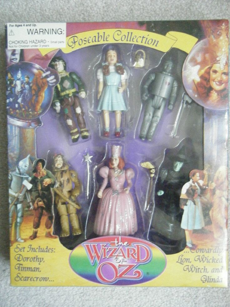 Amazon.com: WIZARD OF OZ 50TH ANNIV. 6 FIG SET: Toys & Games