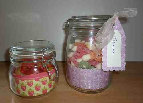 Candy Jar Gifts Made Using Wallpaper Border