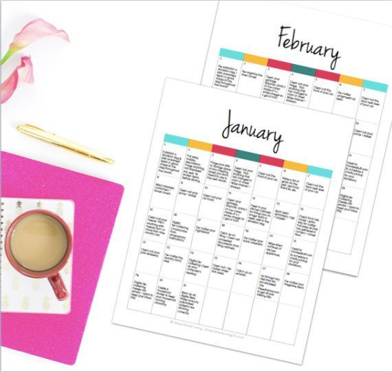 Are you ready to get your life organized in a way you never thought possible? It's simple: just follow along each day and complete the daily task in this organizing planner. Its like having a professional organizer give you a small, yet meaningful task each day that leads to an