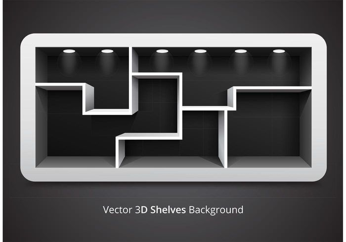 Free vector Free Vector 3D Shelves Background #33215