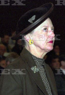 Queen Margrethe, March 8, 2001