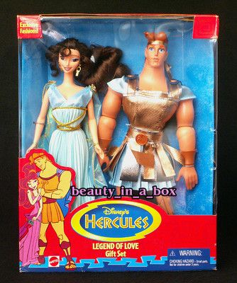 Hercules and Megara Dolls Disney Legend of Love Together Gift Set Barbie Grecian | eBay