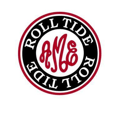 Alabama Roll Tide Monogram Instant Download Cut File Svg