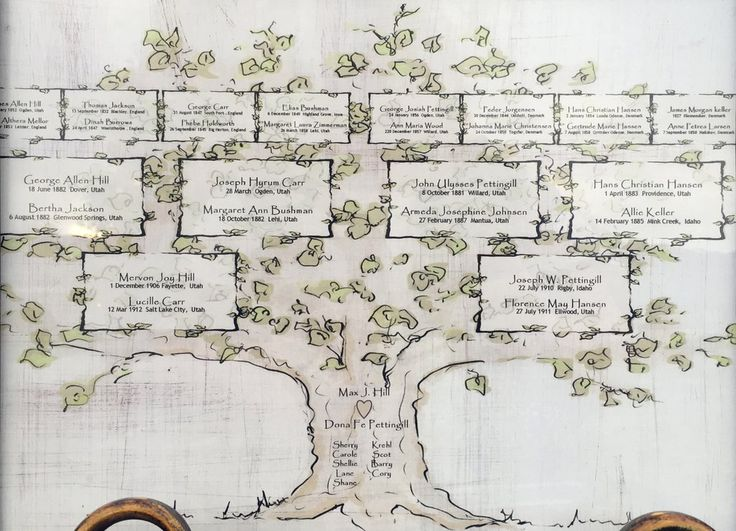 Create an heirloom with this hand drawn family tree. Simply list your family names in the form below and we'll take care of the rest. You will receive a PDF and jpg files and an 11 x 14 printed versio