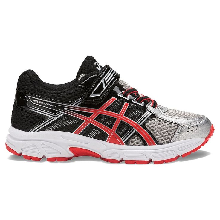 ASICS GEL-Contend 4 Preschool Boys' Running Shoes, Size: 12, Silver