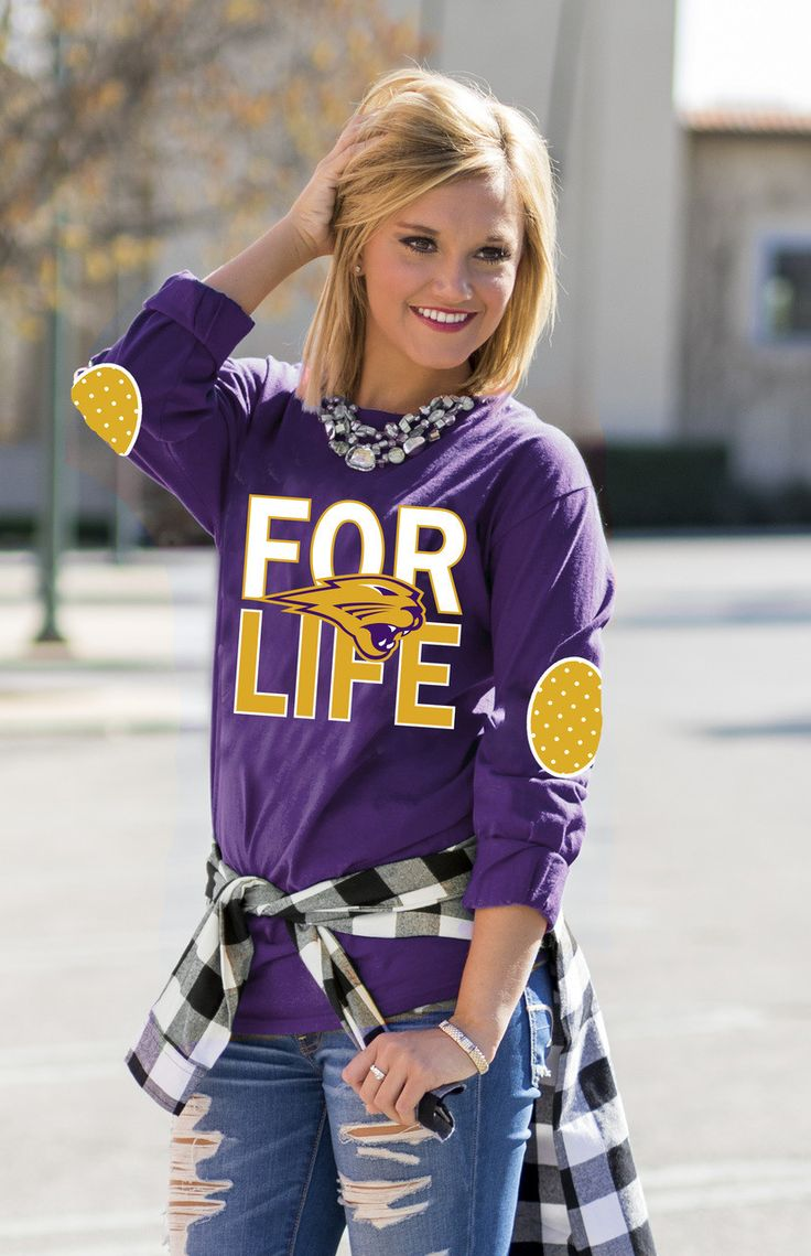 NORTHERN IOWA 'FAN FOR LIFE' ELBOW PATCH TEE
