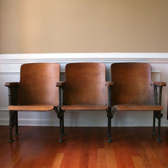 Chairs. Movie Theater Chairs. Man Furniture. Wood. Folding Cinema Seats. Natural. Industrial Home Decor. Modern. Entryway. Bench. eveteam.