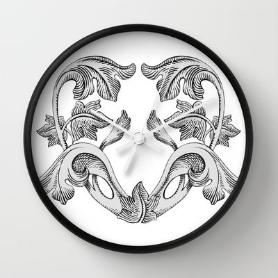 GREAT LOVE B & W Wall Clock by Chicca Besso - $30.00