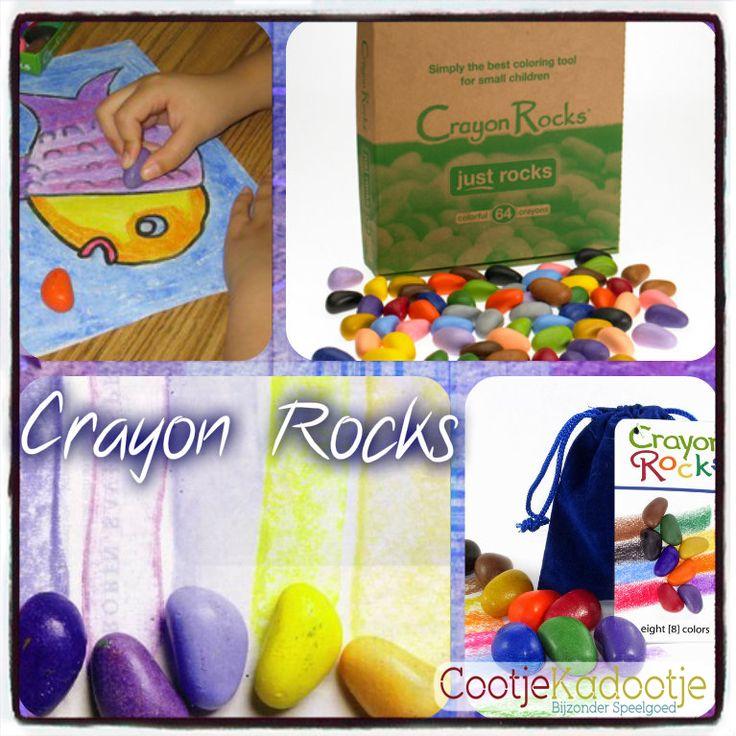 Elk kind begint meteen te kleuren met Crayon Rocks. De heldere kleuren spreken tot de verbeelding, en door de unieke vorm liggen de krijtjes heerlijk in de hand! De vorm stimuleert en ontwikkelt de pengreep. Gemaakt van soja en natuurlijk pigment, dus niet giftig!