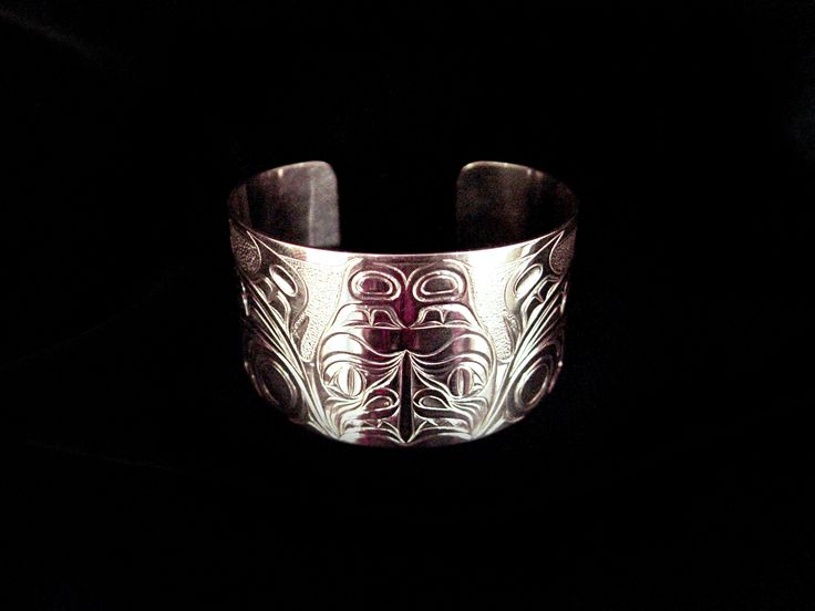 """Dogfish, Sheldon Williams. Hand carved sterling silver. 1.5"""". Northwest Coast First Nations Jewelry."""