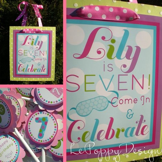 Spa Birthday Party Decorations Package - Spa Day. $115.50, via Etsy.
