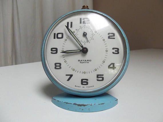 French Bayard vintage clock/ retro alarm clock/ collectable