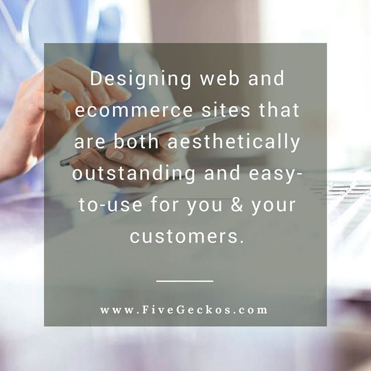 Designing web and #ecommerce sites that are both aesthetically outstanding and easy-to-use for you & your customers. Would you like to sell online?  ==> We're just one click ahead ==> http://ift.tt/2kyx99v ______________________________________________________ #Online #Marketing #OnlineMarketing #Digital #BusinessGrowth #BusinessTips #Entrepreneurship #SEO #SMM #FiveGeckos #onlinemarketing #Hertfordshire #BusinessTips #digital #agency #consultant #support #supportlocal #sme #smb #startup…